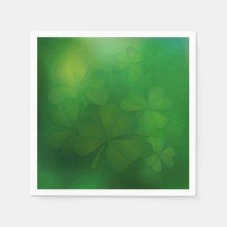 St. Patrick's Day - Clover Napkin Standard Cocktail Napkin