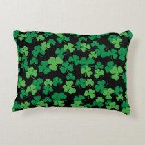 St. Patricks day clover pattern Decorative Pillow