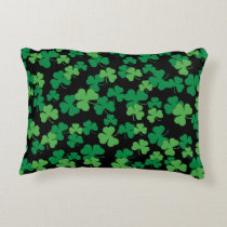 St. Patricks day clover pattern Decorative Pillow