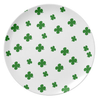 St. Patricks day clover pattern Dinner Plate