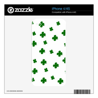 St. Patricks day clover pattern iPhone 4 Skin