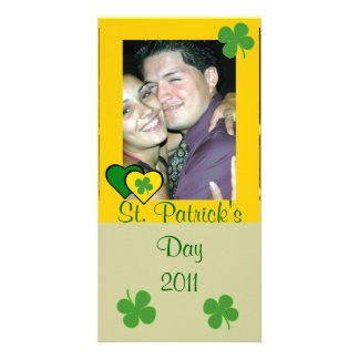 St. Patrick's Day Clover Photo Card