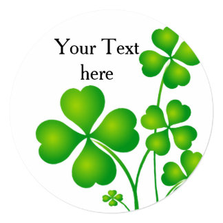 St. Patrick's Day Clover / Shamrocks + your ideas Card