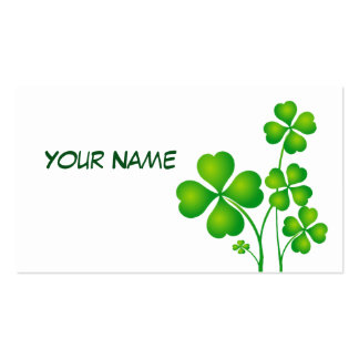 St. Patrick's Day Clover / Shamrocks + your ideas Double-Sided Standard Business Cards (Pack Of 100)
