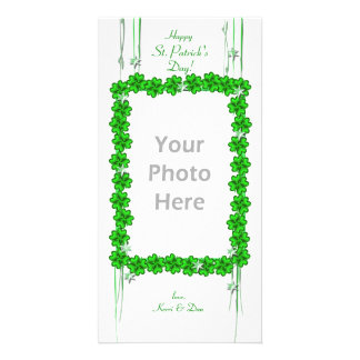 St. Patrick's Day Clover Stars Card