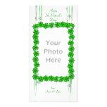 St. Patrick's Day Clover Stars Photo Card