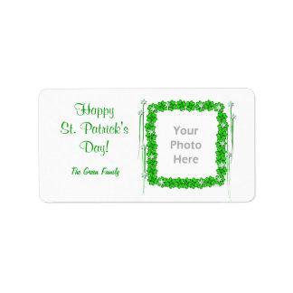 St. Patricks Day Clover Stars (photo frame) Label