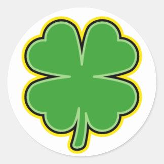St. Patrick's Day Clover Sticker
