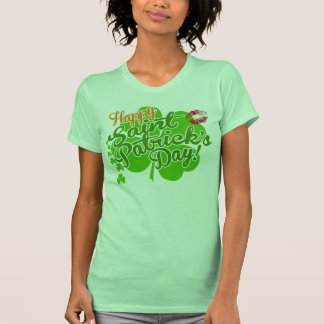 St Patrick's Day Clovers and Kisses T Shirts