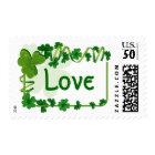 St. Patrick's Day Clovers Irish Love Shamrocks Postage