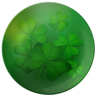 St. Patrick's Day - Clovers Porcelain Plate