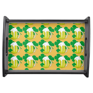 ST. PATRICKS DAY CLOVERS SERVING TRAY