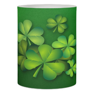 St Patrick's Day - Clovers/Shamrocks Flameless Candle