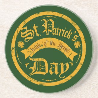 St Patrick's Day Coaster