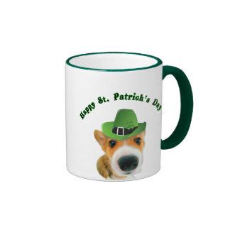 St Patricks day Coffee Mug Cute puppy dog