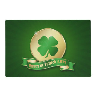 St. Patrick's Day Coin - Laminated Placemat