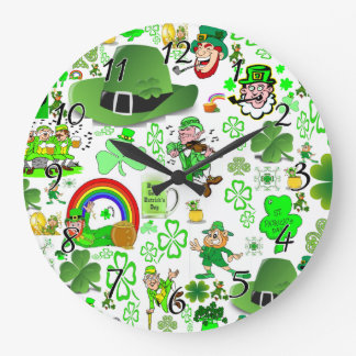 St Patrick's Day Collage Clock