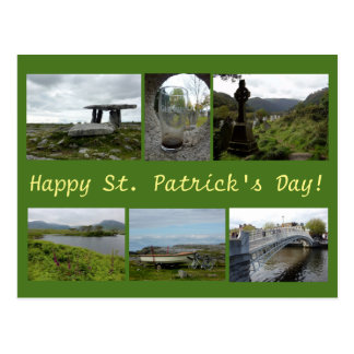 St. Patrick's Day Collage Postcard
