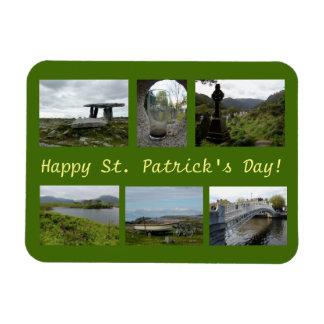 St. Patrick's Day Collage Rectangular Photo Magnet