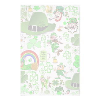 St Patrick's Day Collage Stationery