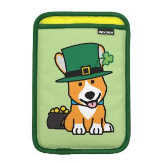 St. Patrick's Day Corgi Leprechaun Dog Puppy Doggy iPad Mini Sleeve