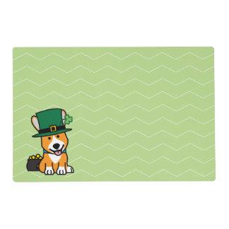 St. Patrick's Day Corgi Leprechaun Dog Puppy Doggy Placemat