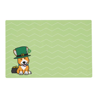 St. Patrick's Day Corgi Leprechaun Dog Puppy Doggy Placemat