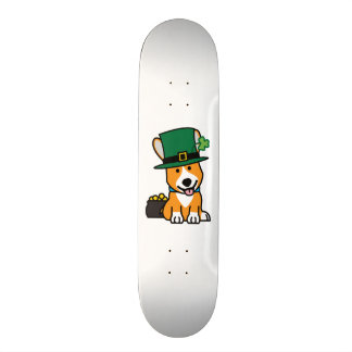St. Patrick's Day Corgi Leprechaun Dog Puppy Doggy Skateboard Deck