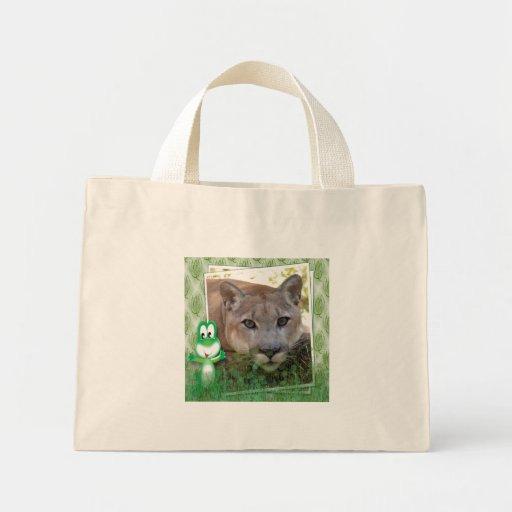 St. Patrick's Day-Cougar Canvas Bag