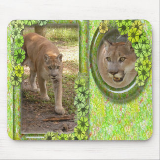 St. Patrick's Day-Cougar Mouse Pad