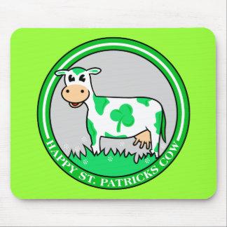St. Patrick's Day Cow Shamrock Mousepad