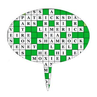 St Patrick's Day Crossword on Cake Topper