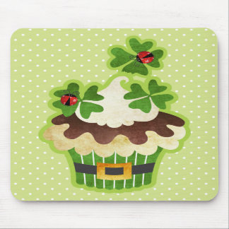 St. Patrick's Day Cupcake Mouse Pads