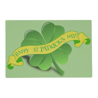 St Patrick's Day Custom Placemat
