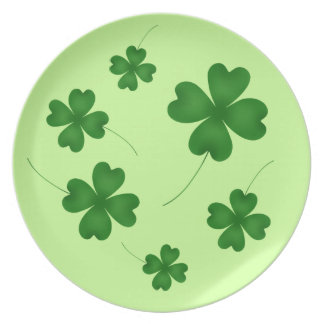 St Patricks Day | Cute shamrock design Dinner Plate
