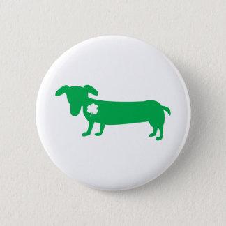 St. Patrick's Day Dachshund Button
