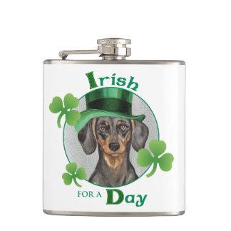 St. Patrick's Day Dachshund Flask