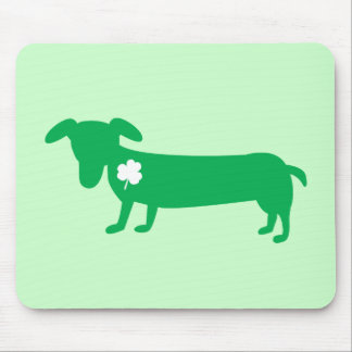 St. Patrick's Day Dachshund Mouse Pad