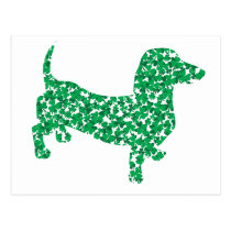 St. Patrick's Day Dachshund Postcard