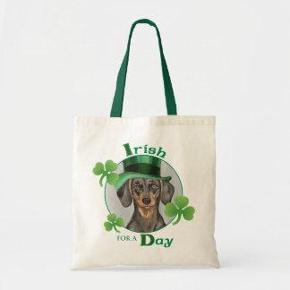 St. Patrick's Day Dachshund Tote Bag