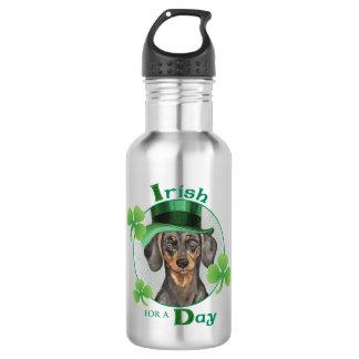 St. Patrick's Day Dachshund Water Bottle