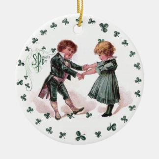 St Patrick's Day Dancing Children Christmas Ornament