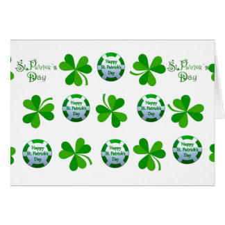 St. Patrick's Day design for greeting-card Card