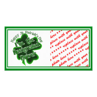 St Patrick's Day Designated Driver Custom Photo Card