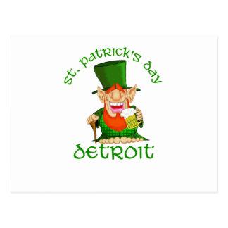 St Patricks Day ~ Detroit Postcard
