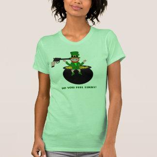 St Patrick's Day Do You Feel Lucky Womens T-Shirt Shirt