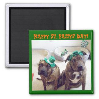 St. Patrick's Day Dog Magnet