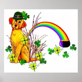 St. Patrick's Day Dog Poster