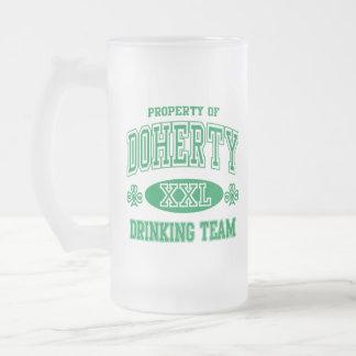 St Patricks Day Doherty Irish Drinking Team 16 Oz Frosted Glass Beer Mug