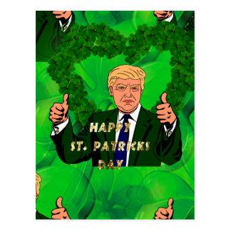 st patricks day donald trump postcard